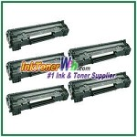 HP 78A CE278A Compatible Toner Cartridges - 5 Piece