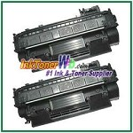 HP 05A CE505A Compatible Toner Cartridges - 2 Piece