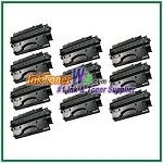 HP 80X CF280X High Yield Compatible Toner Cartridge - 10 Piece