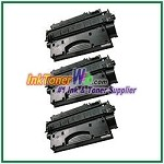 HP 80X CF280X High Yield Compatible Toner Cartridge - 3 Piece