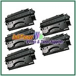 HP 80X CF280X High Yield Compatible Toner Cartridge - 5 Piece