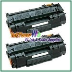 HP Q7553XD 53X High Yield Compatible Toner Cartridges - Dual Pack