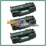 HP 53X Q7553X High Yield Compatible Toner Cartridges - 3 Piece