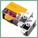 Kodak 10 Compatible ink Cartridges - 3 Piece Combo