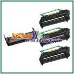 Konica Minolta 1710405-002 & 1710400-002 Compatible Toner Cartridges & Drum Unit - 4 Piece Combo