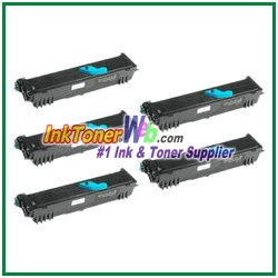 Konica Minolta 1710567-001 High Yield Compatible Toner Cartridges ( for PagePro 1300 series ) - 5 Piece