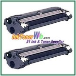 Konica Minolta 1710517-005 High Yield Compatible Black Toner Cartridges ( for magicolor 2300/2350 ) - 2 Piece
