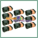 Kyocera Mita TK-120, TK-122 (TK120, TK122) Black Compatible Toner Cartridges - 10 Piece