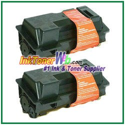 Kyocera Mita TK-120, TK-122 (TK120, TK122) Black Compatible Toner Cartridges - 2 Piece
