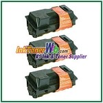 Kyocera Mita TK-120, TK-122 (TK120, TK122) Black Compatible Toner Cartridges - 3 Piece