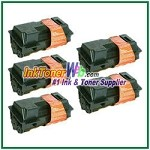 Kyocera Mita TK-120, TK-122 (TK120, TK122) Black Compatible Toner Cartridges - 5 Piece