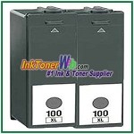 Lexmark 100XL 14N1053 Compatible Black ink Cartridge -2 Piece