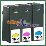 Lexmark 100XL Compatible ink Cartridges - 3 Piece Combo