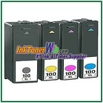 Lexmark 100XL Compatible ink Cartridges - 4 Piece Combo