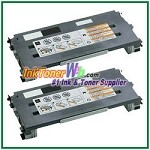 Lexmark C500, X500, X502 Black High Yield Compatible Toner Cartridges - 2 Piece