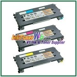 Lexmark C500, X500, X502 Cyan, Magenta, Yellow High Yield Compatible Toner Cartridges - 3 Piece Combo