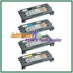 Lexmark C500, X500, X502 Black, Cyan, Magenta, Yellow High Yield Compatible Toner Cartridges - 4 Piece Combo