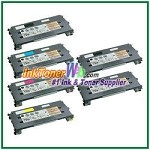 Lexmark C500, X500, X502 Black, Cyan, Magenta, Yellow High Yield Compatible Toner Cartridges - 6 Piece Combo