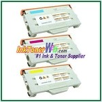 Lexmark C510 Cyan, Magenta, Yellow High Yield Compatible Toner Cartridges - 3 Piece Combo