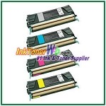 Lexmark C522, C524, C530, C532, C534 Black, Cyan, Magenta, Yellow Compatible Toner Cartridges - 4 Piece Combo
