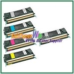Lexmark C522, C524, C530, C532, C534 Black, Cyan, Magenta, Yellow Compatible Toner Cartridges - 5 Piece Combo