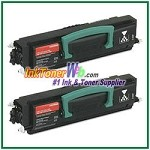 Lexmark E230, E232, E234, E240, E330, E340, E332, E342 High Yield Compatible Toner Cartridges - 2 Piece