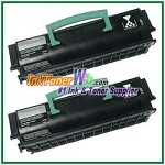 Lexmark E250, E350, E352 Compatible Toner Cartridges - 2 Piece