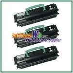 Lexmark E250, E350, E352 Compatible Toner Cartridges - 3 Piece