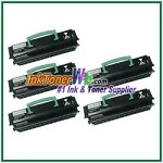 Lexmark E250, E350, E352 Compatible Toner Cartridges - 5 Piece