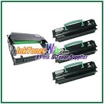 Lexmark E250, E350, E352 Compatible Toner Cartridges & Drum Unit - 4 Piece Combo