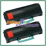 Lexmark E260, E360, E460, E462 Compatible Toner Cartridges - 2 Piece