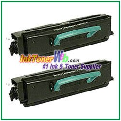 Lexmark E350, E352 High Yield Compatible Toner Cartridges - 2 Piece