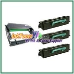 Lexmark E350, E352 Compatible High Yield Toner Cartridges & Drum Unit - 4 Piece Combo