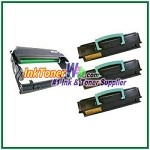 Lexmark E450 Compatible Toner Cartridges & Drum Unit - 4 Piece Combo