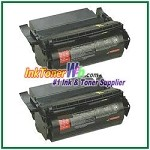 Lexmark Optra S High Yield Compatible Toner Cartridges - 2 Piece