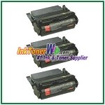 Lexmark Optra S High Yield Compatible Toner Cartridges - 3 Piece