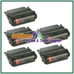Lexmark Optra S High Yield Compatible Toner Cartridges - 5 Piece