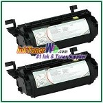 Lexmark Optra T, T610, T612, T614, T616 High Yield Compatible Toner Cartridges - 2 Piece