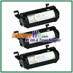 Lexmark Optra T, T610, T612, T614, T616 High Yield Compatible Toner Cartridges - 3 Piece