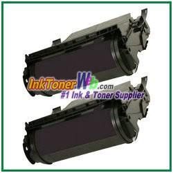 Lexmark T620, T622, X620 High Yield Compatible Toner Cartridges - 2 Piece