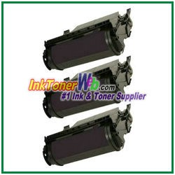 Lexmark T620, T622, X620 High Yield Compatible Toner Cartridges - 3 Piece