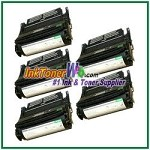 Lexmark T630, T632, T634, X630, X632, X634 High Yield Compatible Toner Cartridges - 5 Piece