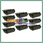 Lexmark  T632, T634, X632, X634 Extra High Yield Compatible Toner Cartridges - 10 Piece