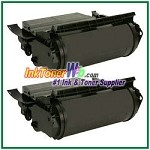 Lexmark  T632, T634, X632, X634 Extra High Yield Compatible Toner Cartridges - 2 Piece