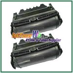 Lexmark T640, T642, T644 High Yield Compatible Toner Cartridges - 2 Piece