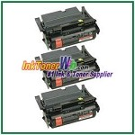 Lexmark T644 Extra High Yield Compatible Toner Cartridges - 3 Piece