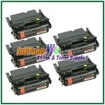 Lexmark T644 Extra High Yield Compatible Toner Cartridges - 5 Piece