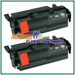 Lexmark T650, T652, T654, T656 High Yield Compatible Toner Cartridges - 2 Piece