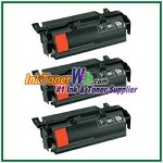 Lexmark T650, T652, T654, T656 High Yield Compatible Toner Cartridges - 3 Piece