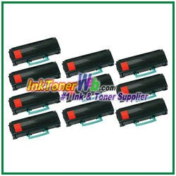 Lexmark X264, X363, X364 High Yield Compatible Toner Cartridges - 10 Piece
